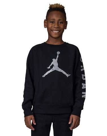 JORDAN BOYS Black Clothing / Crew Neck Sweatshirts M