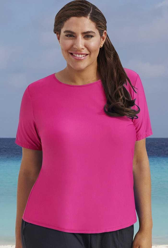 Pink Paradise 26-34 Swim Tee