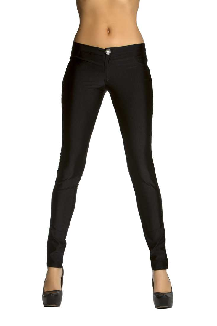 Black Button Fly Closure Skinny Jeans