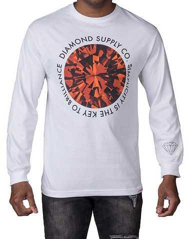 DIAMOND SUPPLY COMPANY MENS White Clothing / Tops S