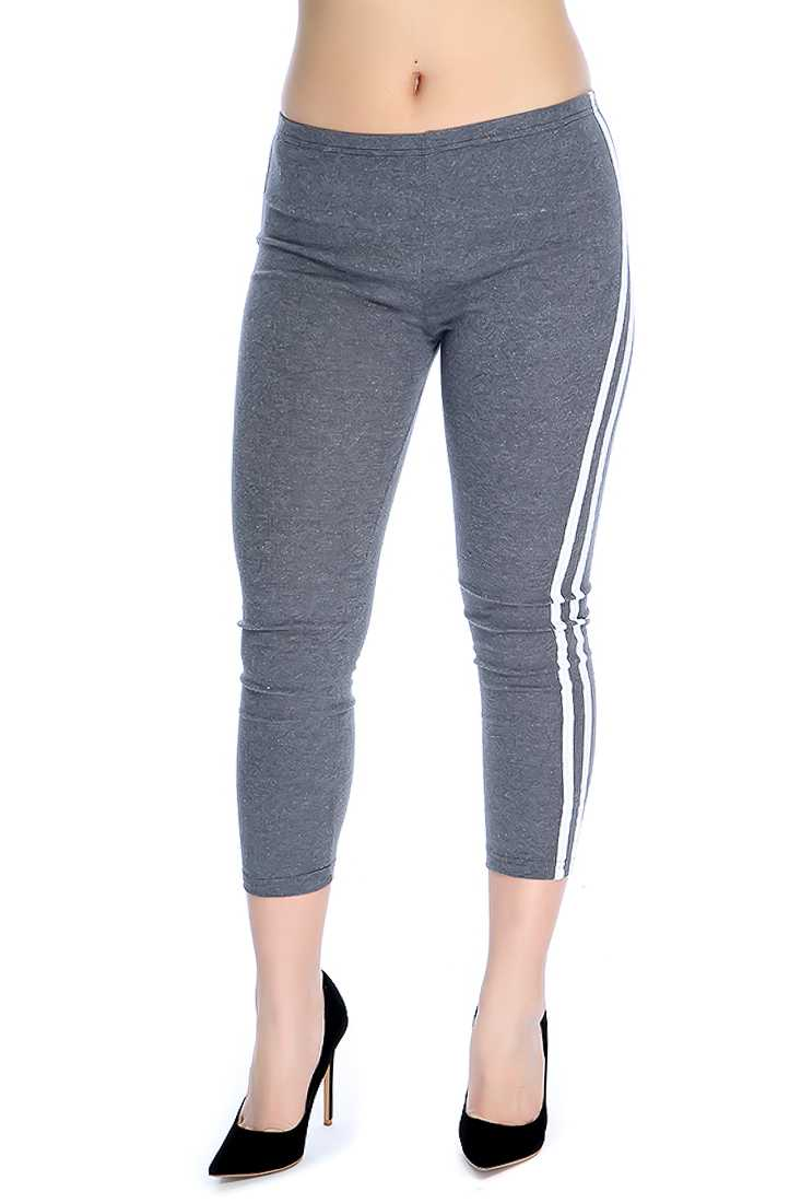 Stylish Grey Comfortable Fitted Leggings