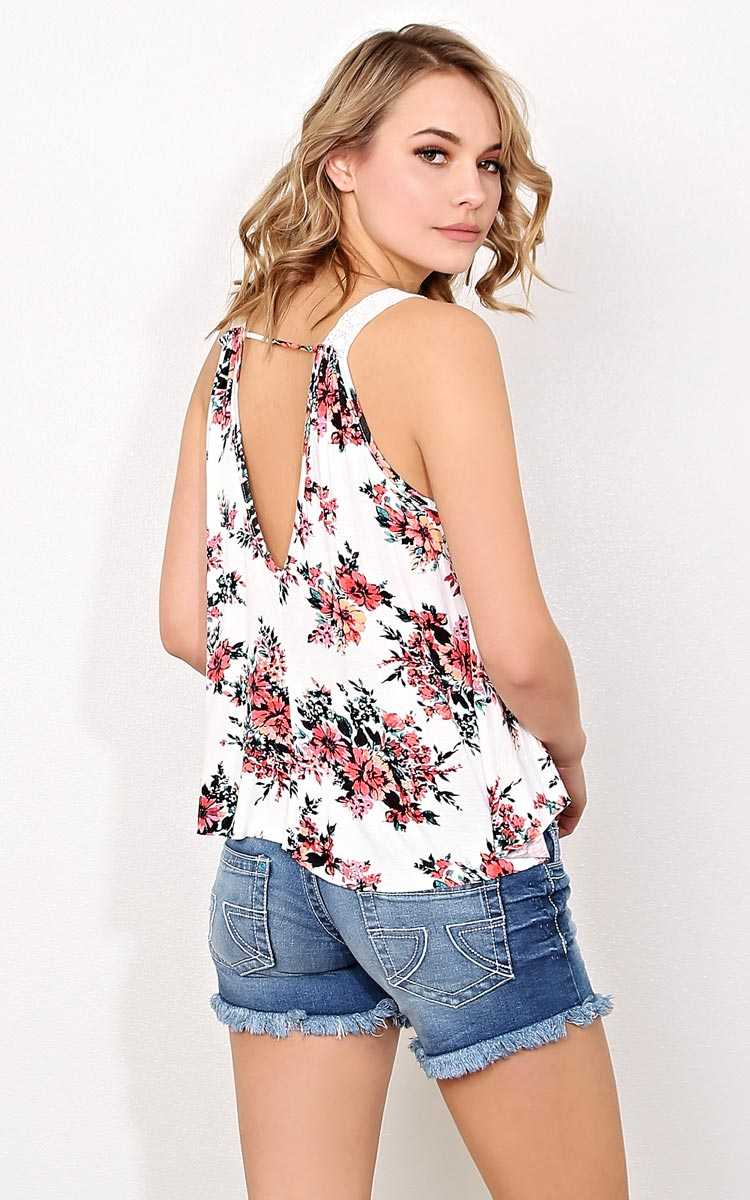 Festival Beau Knit Tank - - Ivory Combo in Size by Styles For Less