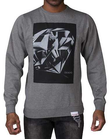 DIAMOND SUPPLY COMPANY MENS Grey Clothing / Sweatshirts M