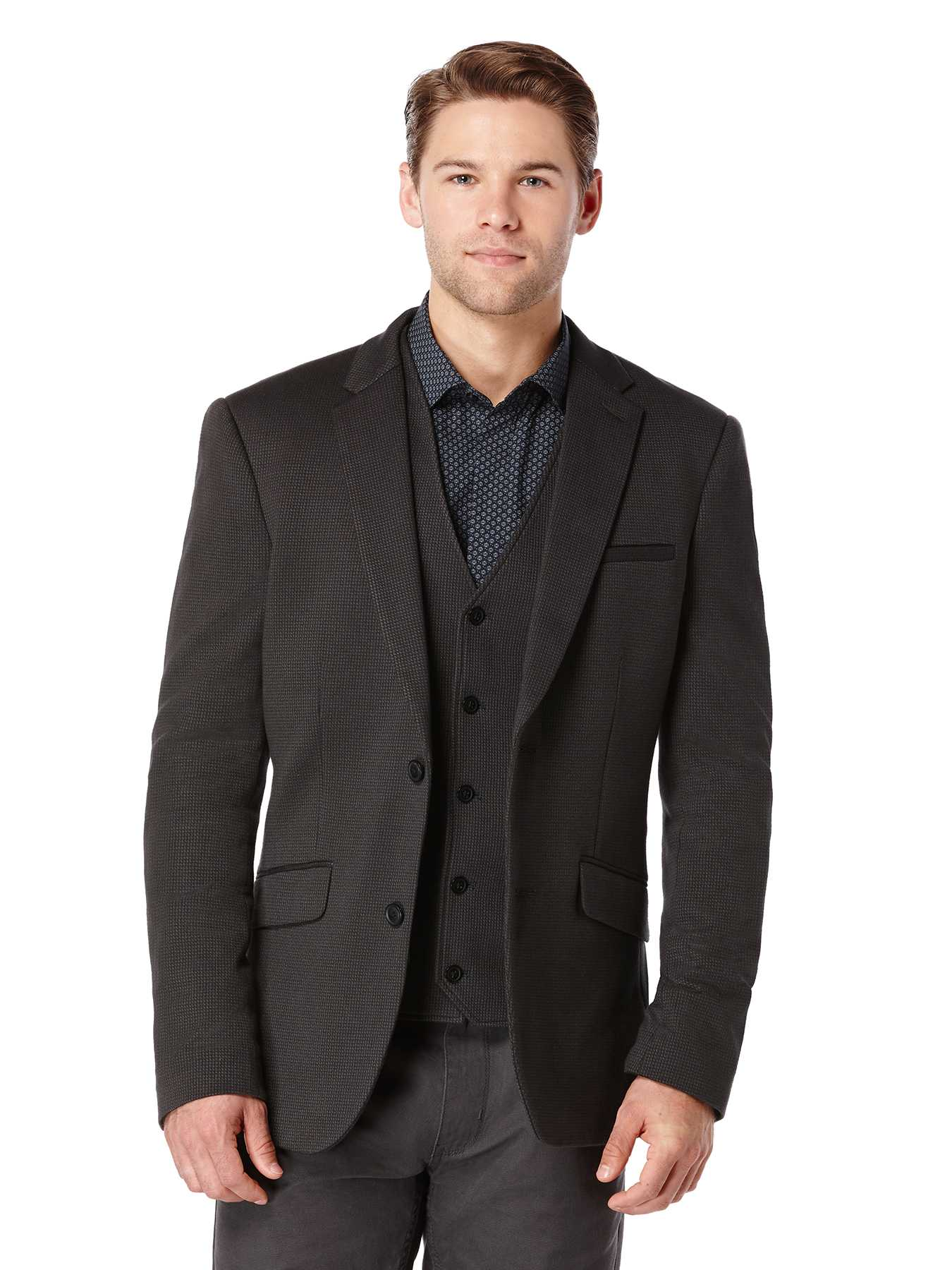 Perry Ellis Slim Fit Micro Pattern Suit Jacket