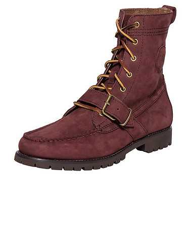 POLO FOOTWEAR MENS Burgundy Footwear / Boots