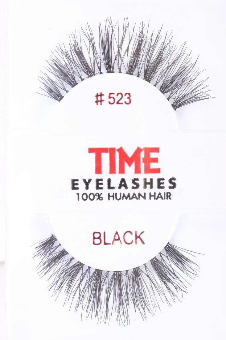 Black Full Volume Lengthening Glamour Human Hair Eyelashes