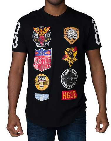 HUSTLE GANG MENS Black Clothing / Tops