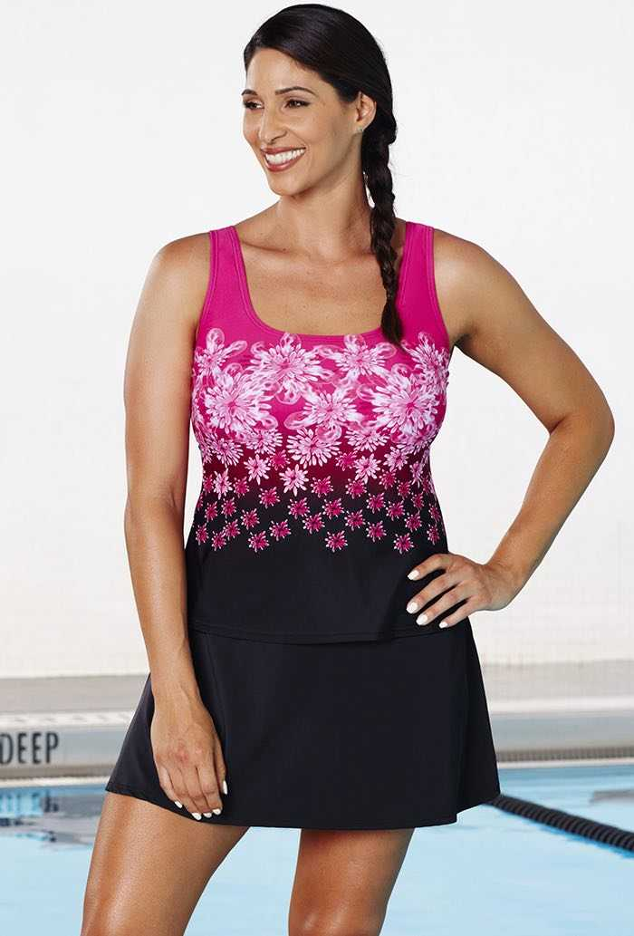 Aquabelle Exploded Floral Sport Skirtini