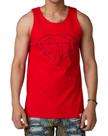 DIAMOND SUPPLY COMPANYENS Red Clothing / Tank Tops