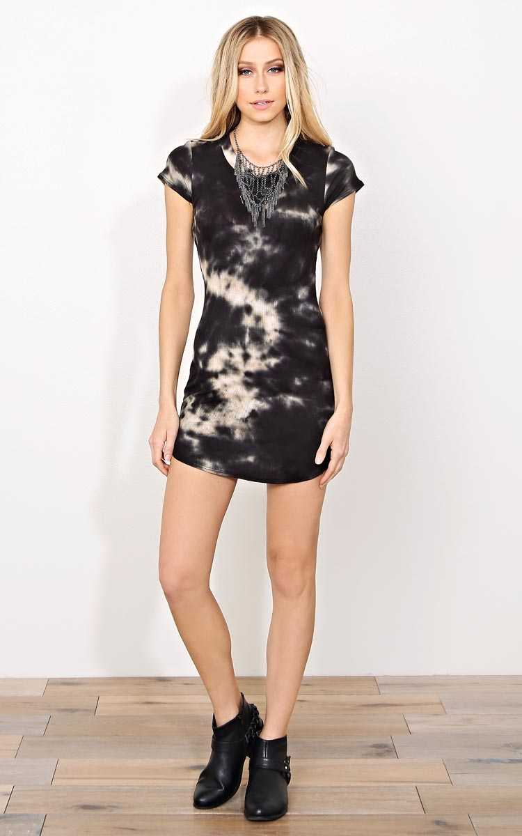 Ringo Tie Dye T Shirt Dress - - Combo in Size by Styles For Less