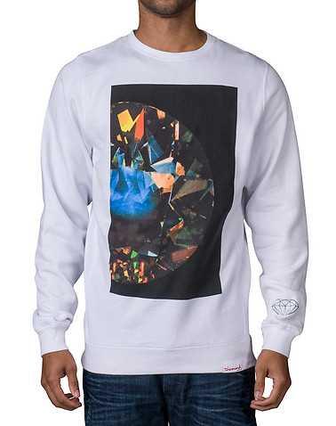 DIAMOND SUPPLY COMPANY MENS White Clothing / Sweatshirts L
