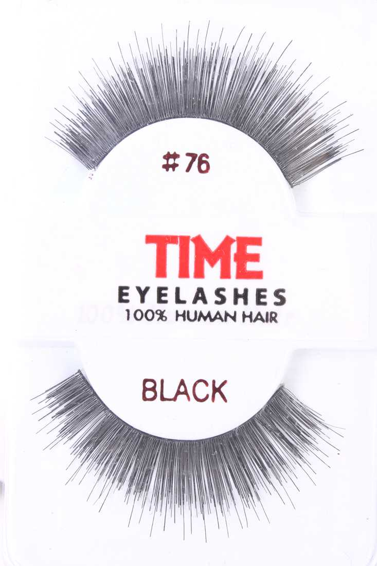 Black Thick Full Glamour Human Hair Eyelashes