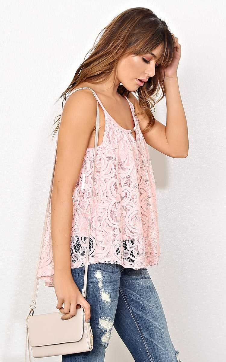 Tarynn Knit Swing Tank - - Blush in Size by Styles For Less