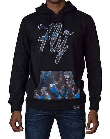 FLY SOCIETY MENS Black Clothing / Sweatshirts L