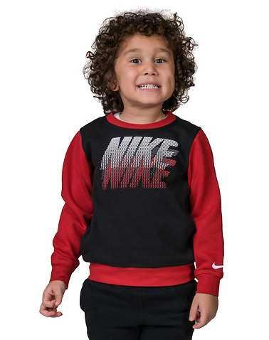 NIKE BOYS Black Clothing / Crew Neck Sweatshirts L / 6