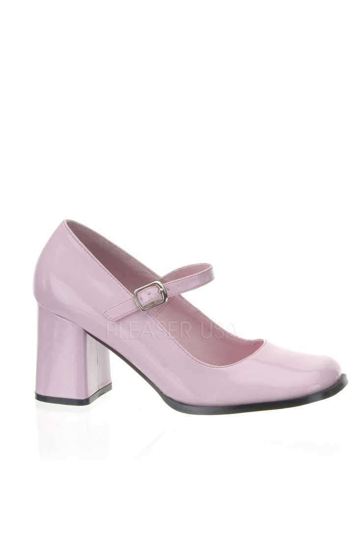 Baby Pink Closed Toe Maryjane High Heels Patent