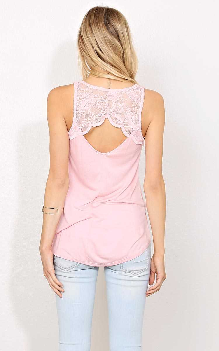 Back To Me Knit Tank - - Blush in Size by Styles For Less