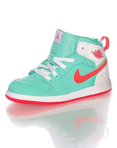 JORDAN GIRLS Medium green Footwear / Sneakers 4C
