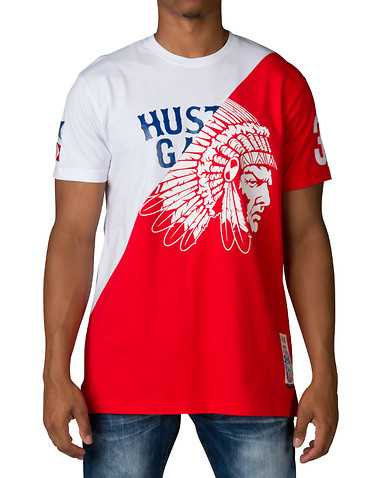 HUSTLE GANG MENS White Clothing / Tops