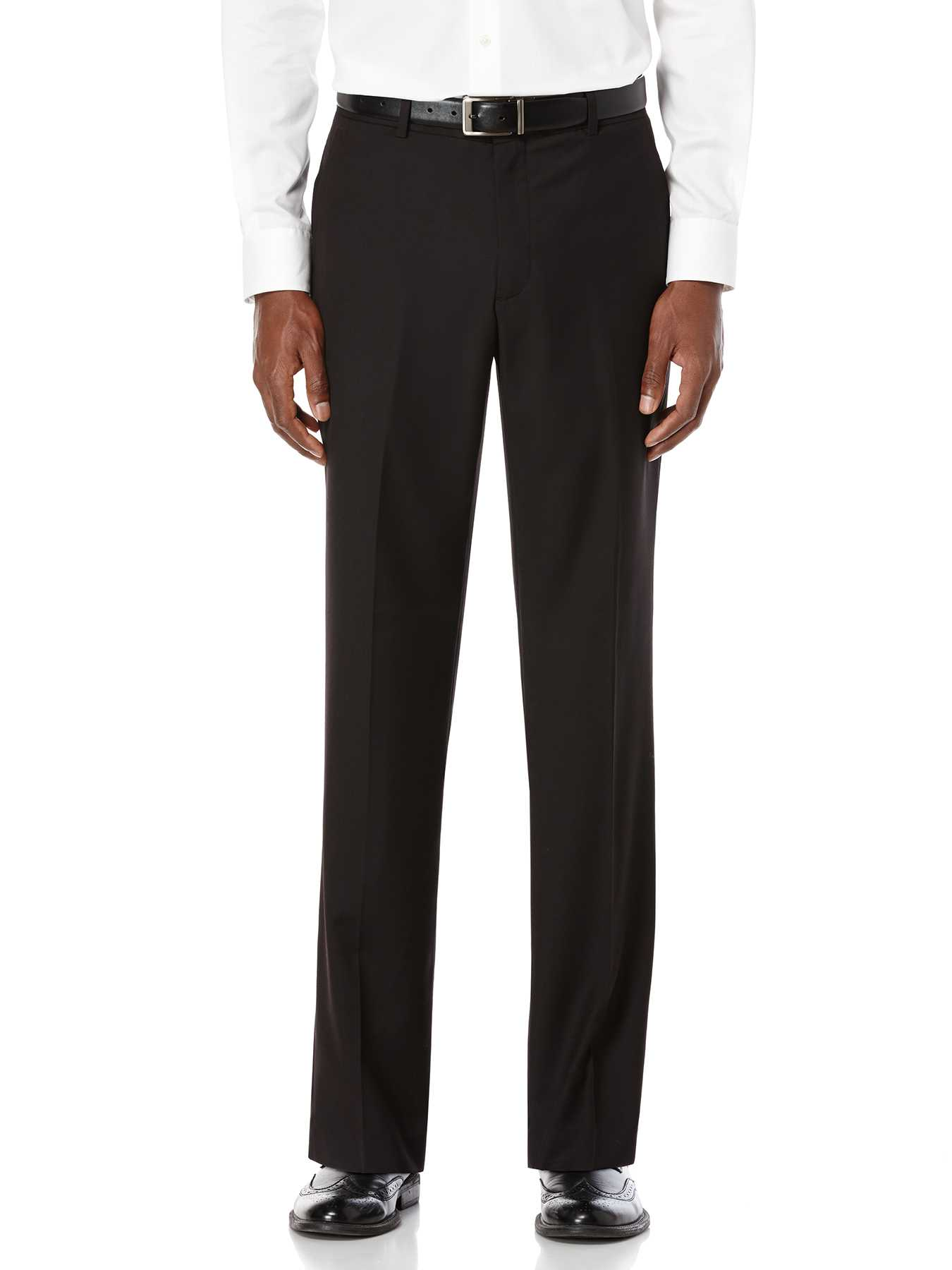 Perry Ellis Regular Fit Sharkskin Solid Suit Pant