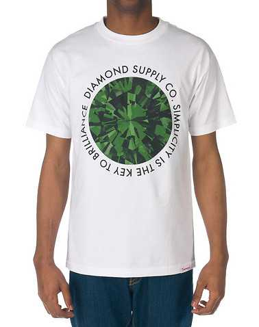 DIAMOND SUPPLY COMPANY MENS White Clothing / Tees and Polos XL