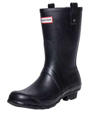 HUNTER MENS Black Footwear / Boots 13