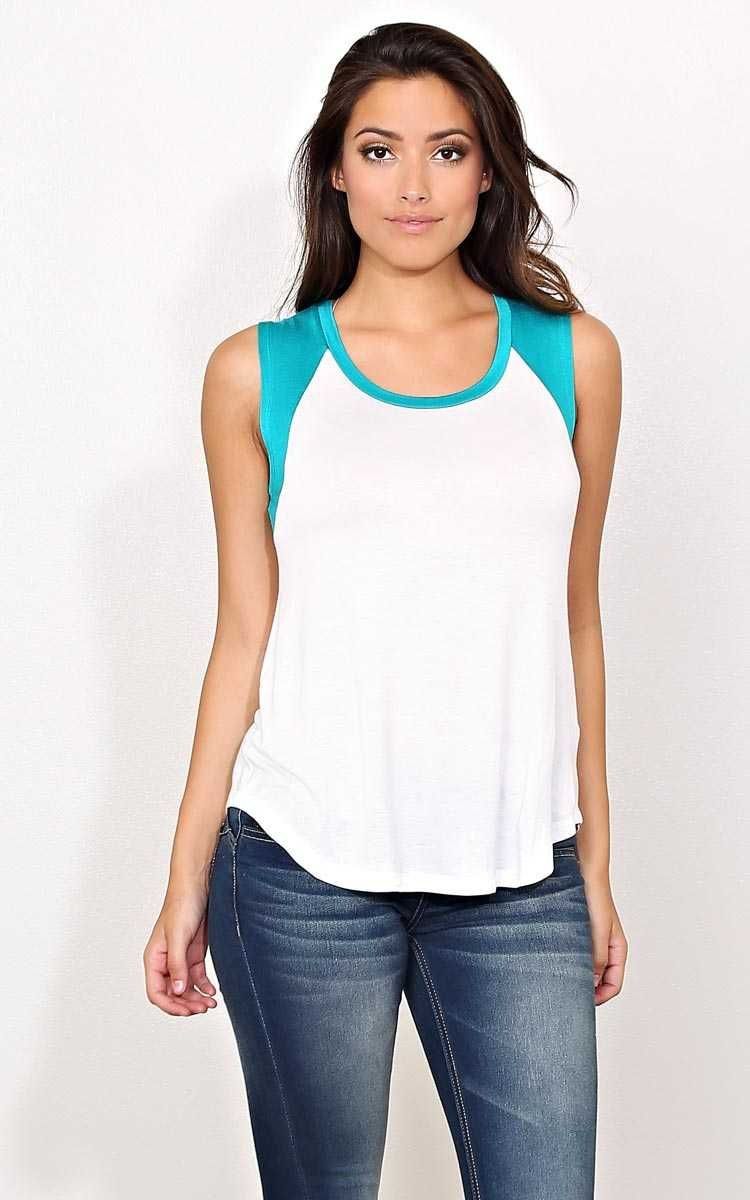 Jade Raglan Heat Knit Top - LGE - Jade Combo in Size Large by Styles For Less