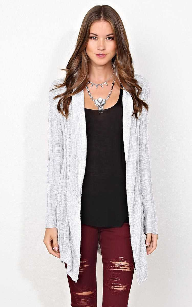 Into The Woods Sweater Knit Wrap - XLGE - Grey Combo in Size X-Large by Styles For Less