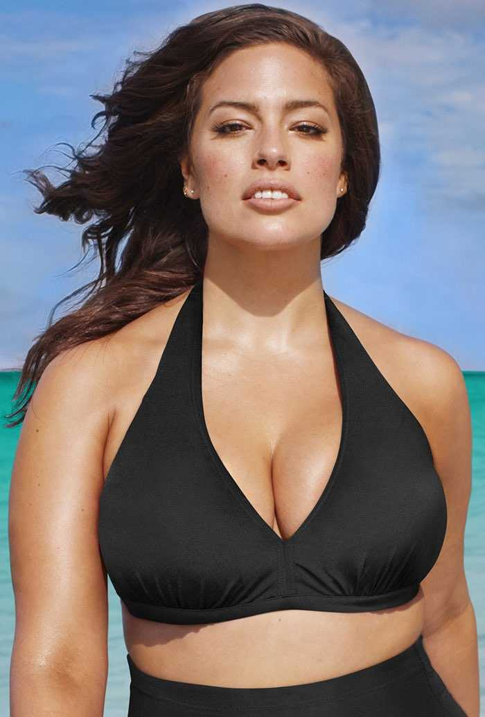 Halter Black Bikini Top
