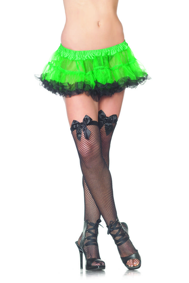 Green Black Two Tone Sexy Ruffle Petticoat