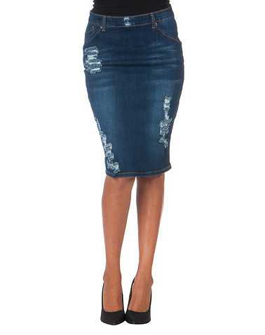 LA BELLE ROC WOMENS Blue Clothing / Skirts 1/2