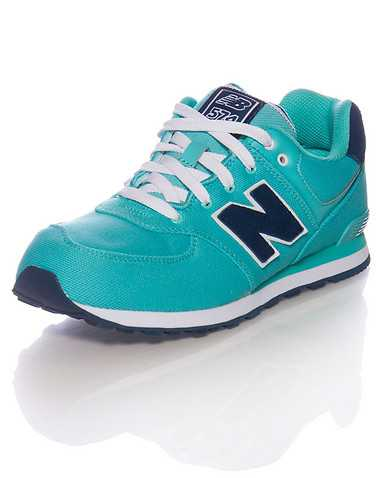 NEW BALANCE GIRLS Medium Green Footwear / Running 4.5