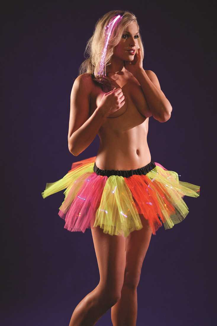 Rainbow Neon Light Up Sexy Medium Petti Tutu