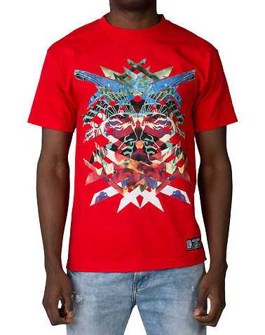 HUSTLE GANG MENS Red Clothing / Tops