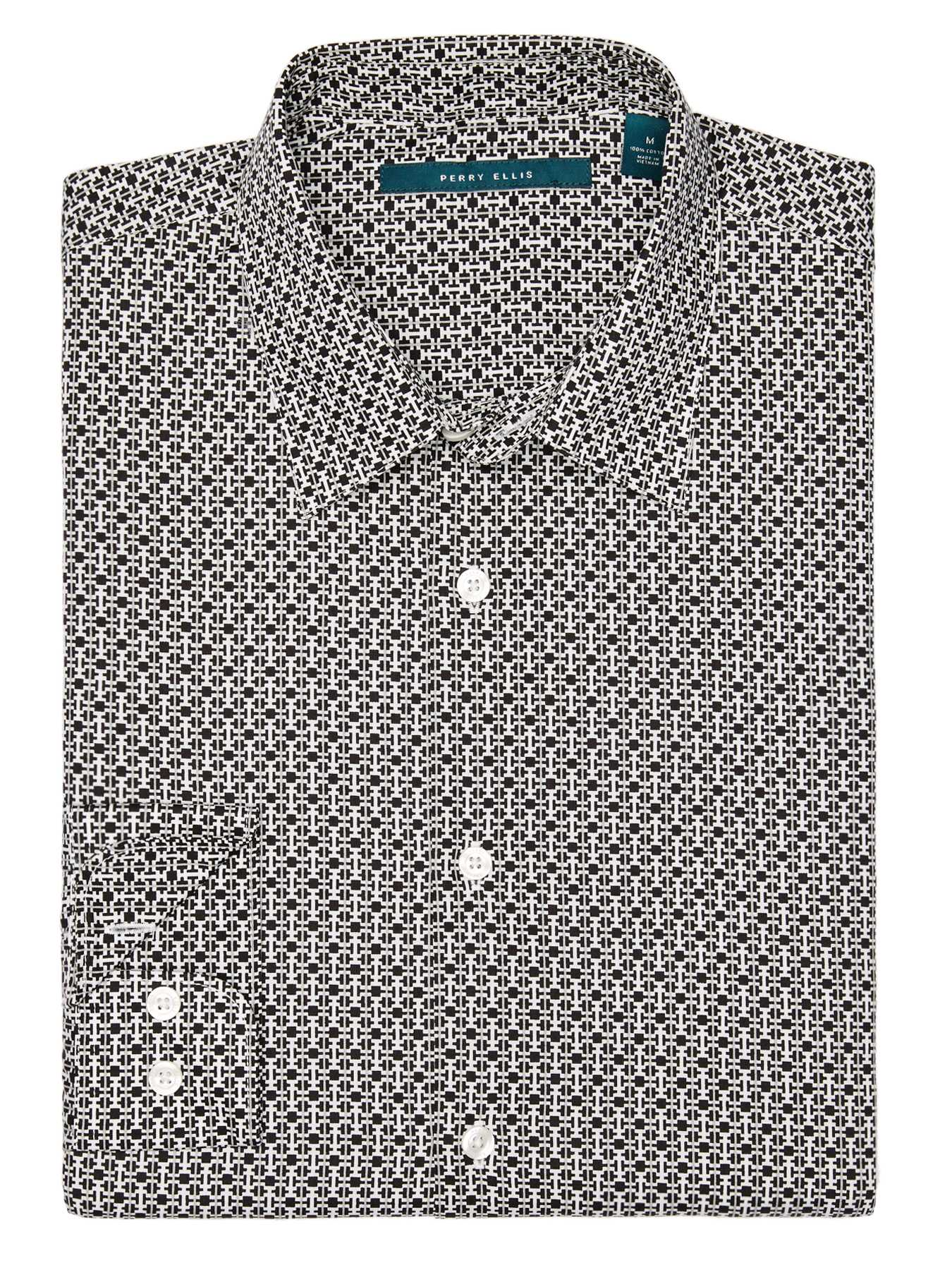 Perry Ellis Broken Geometric Shirt
