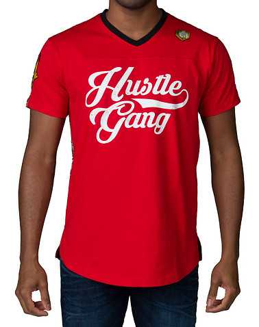 HUSTLE GANG MENS Red Clothing / Tops 5X