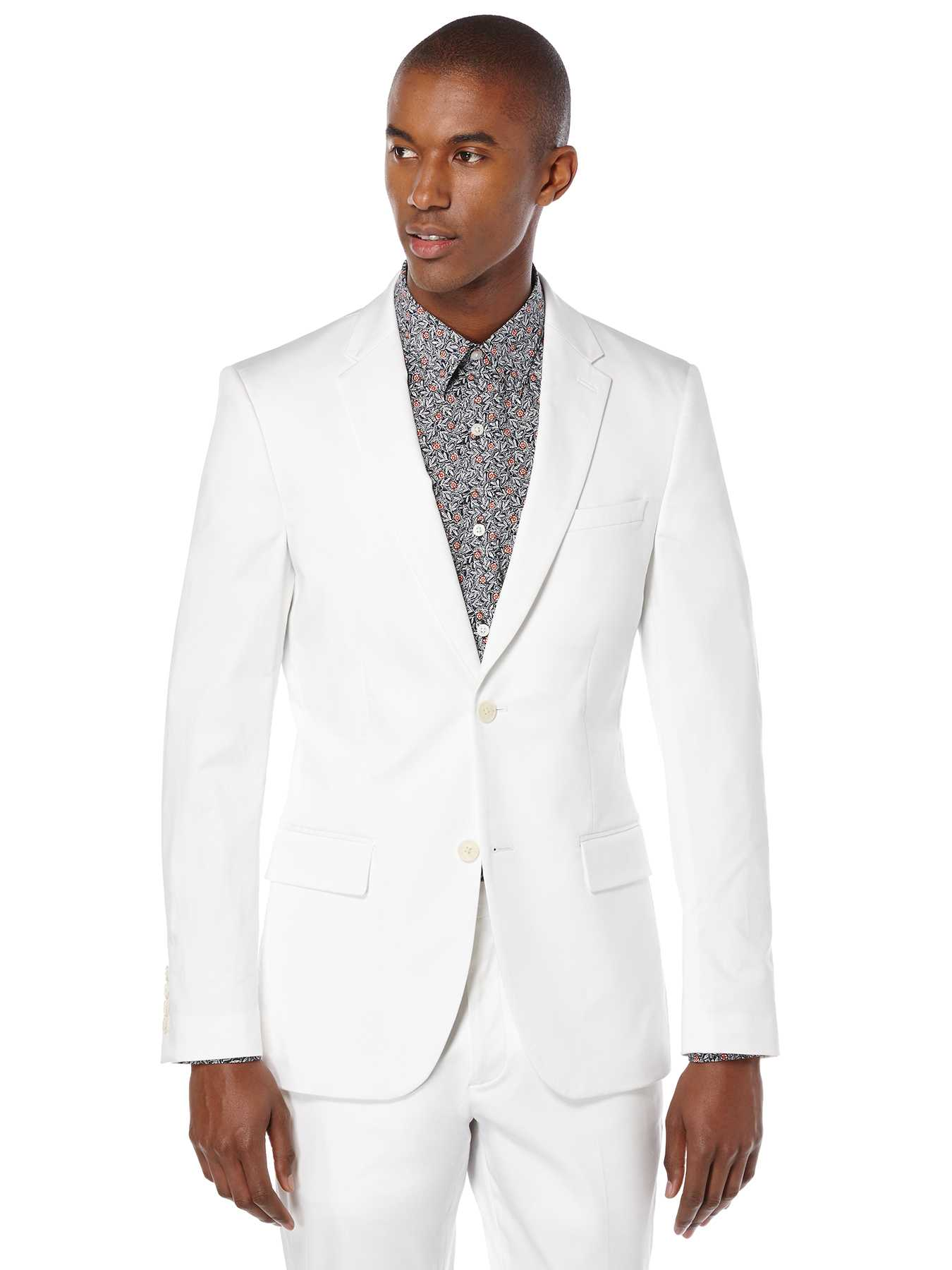 Perry Ellis Very Slim Satin Suit Jacket