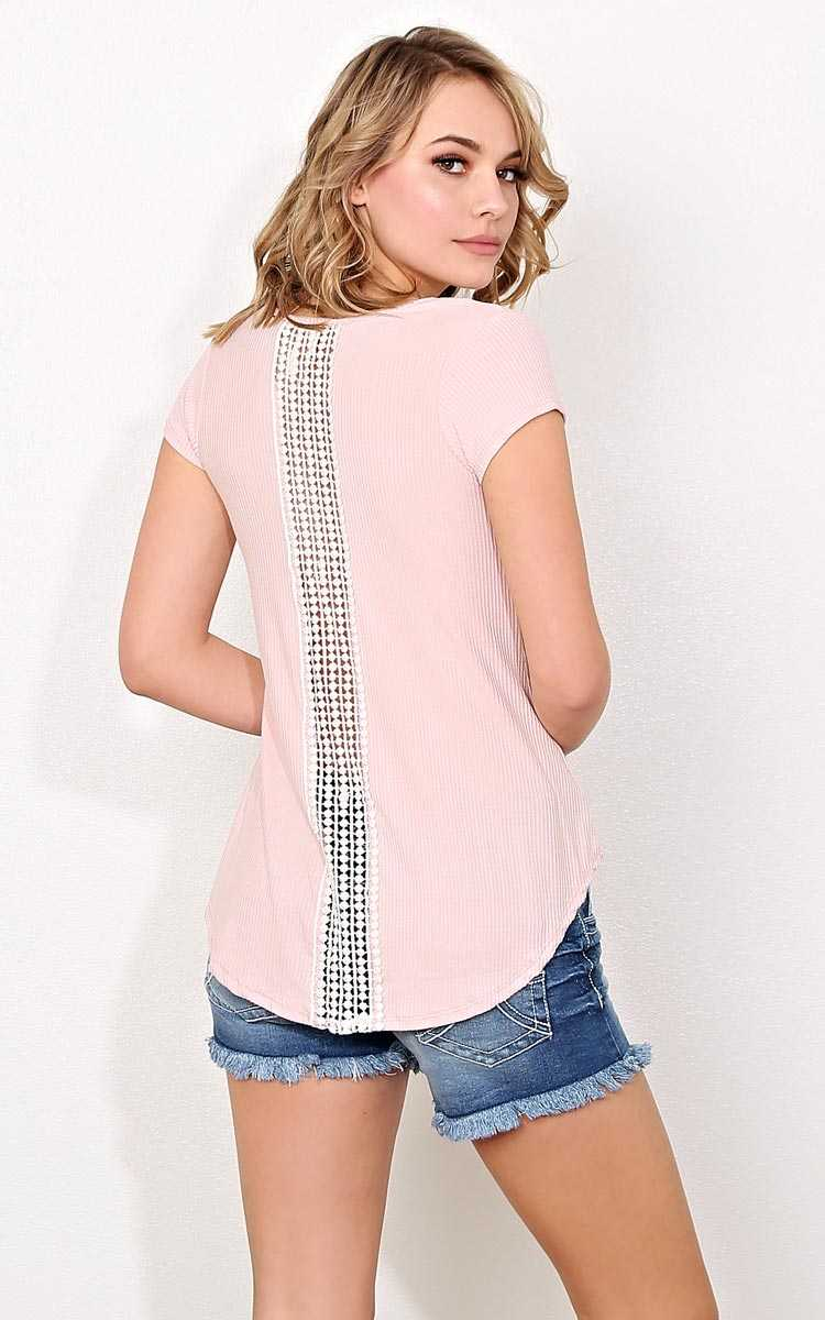 Coming Home Rib Knit Top - - Mauve in Size by Styles For Less