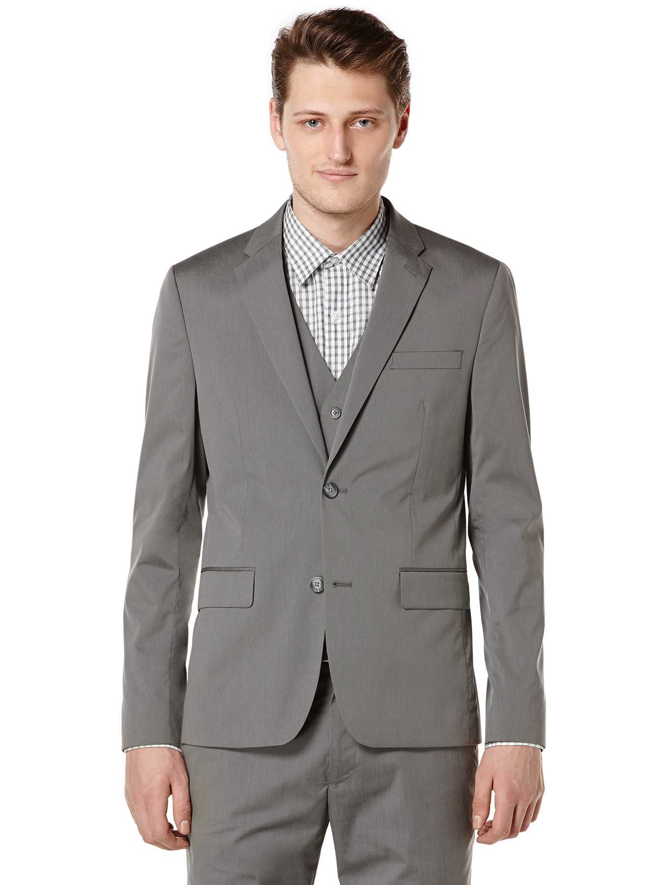 Perry Ellis Slim Fit Iridescent Suit Jacket