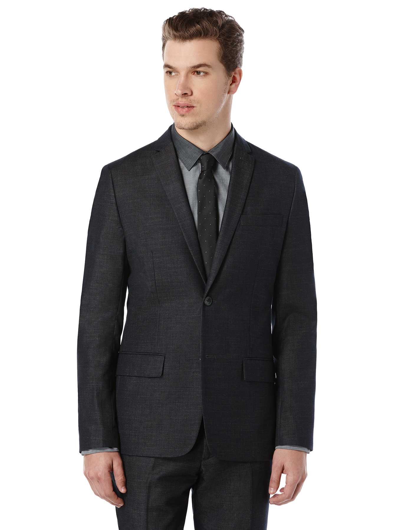 Perry Ellis Slim Fit Chambray Suit Jacket
