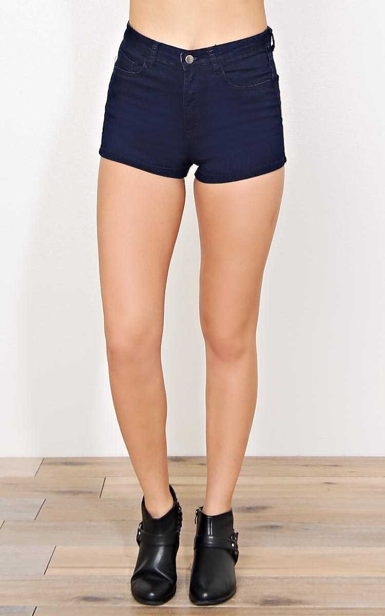 Subtle Spring Denim Shorts - Rinse Wash in Size by Styles For Less