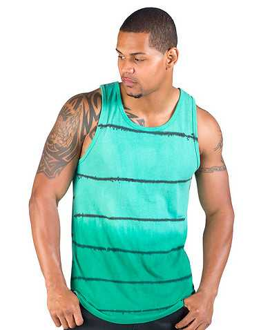 DECIBEL MENS Green Clothing / Tank Tops XL