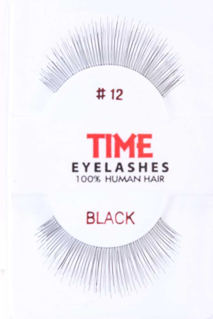 Black Full Length Extending Human Hair Eyelashes