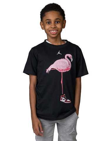 JORDAN BOYS Black Clothing / Short Sleeve T-Shirts M