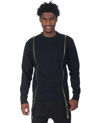 DECIBEL MENS Black Clothing / Sweatshirts XL