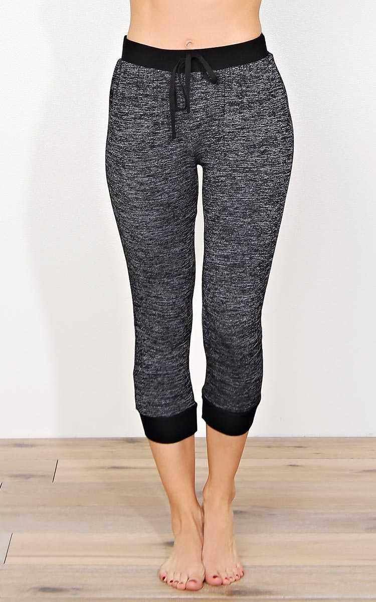 Keep It Simple Marled Knit Joggers - XLGE - Combo in Size X-Large by Styles For Less