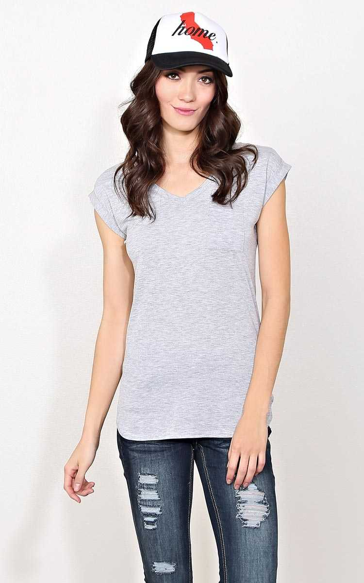 Grey Casual Friday Knit Top - - Heather in Size by Styles For Less