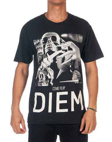 DIEM MENS Black Clothing / Tops S