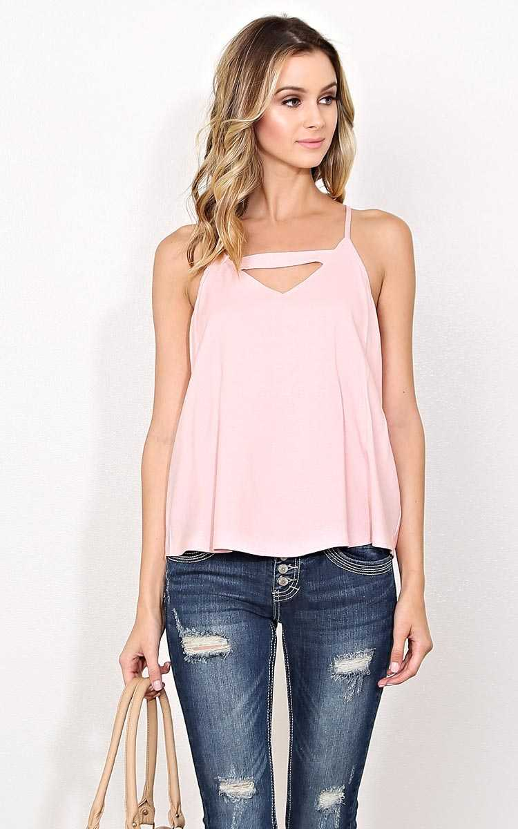 Sealed With a Kiss Woven Tank - - Blush in Size by Styles For Less