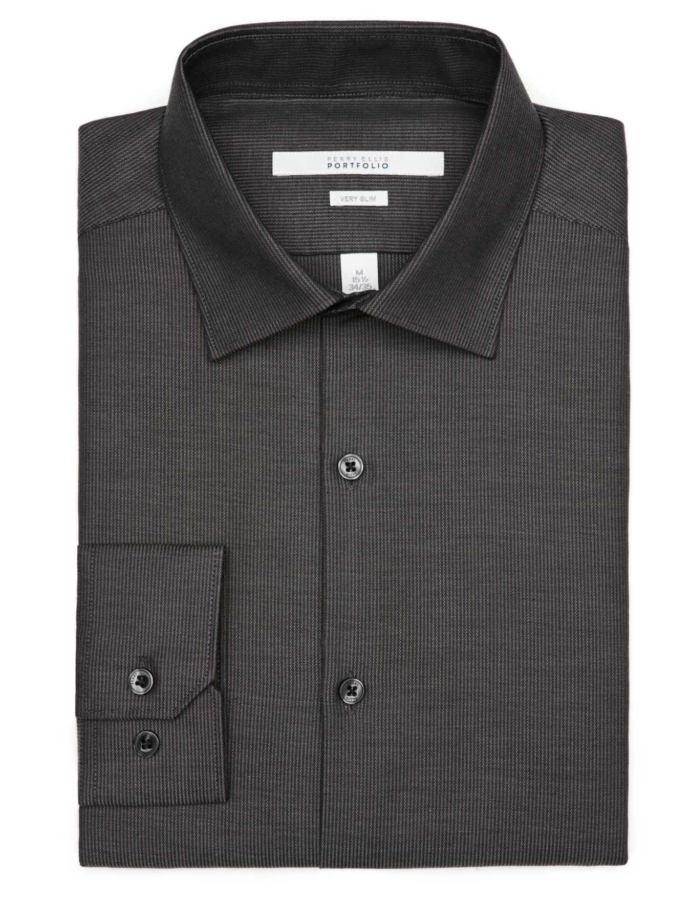 Perry Ellis Very Slim Corded Texture Dress Shirt